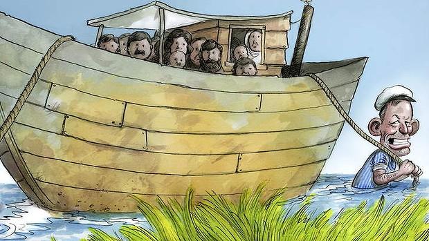 Abbott sailing in rough seas